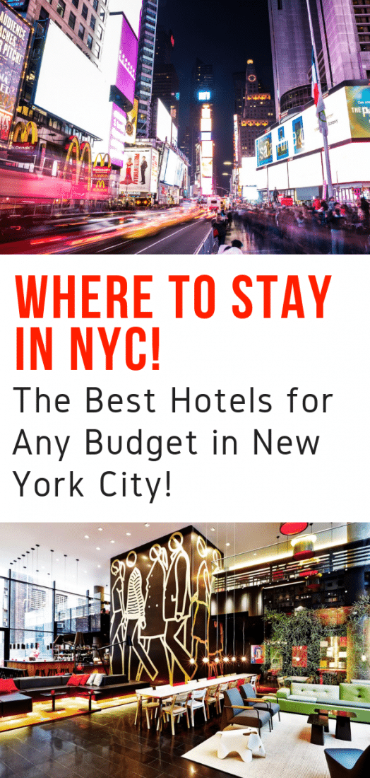 Where to Stay in NYC - A guide to the best hotels in New York City for any budget!! From luxury to boutique to budget, here are the best hotels in New York City! #nyc #newyork #newyorkcity #travel #hotels