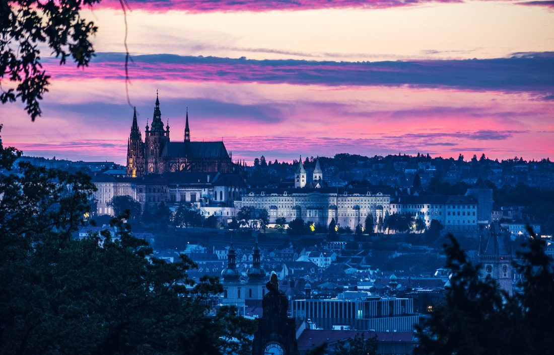 A sunset over Prague Castle - How to Spend a weekend in prague
