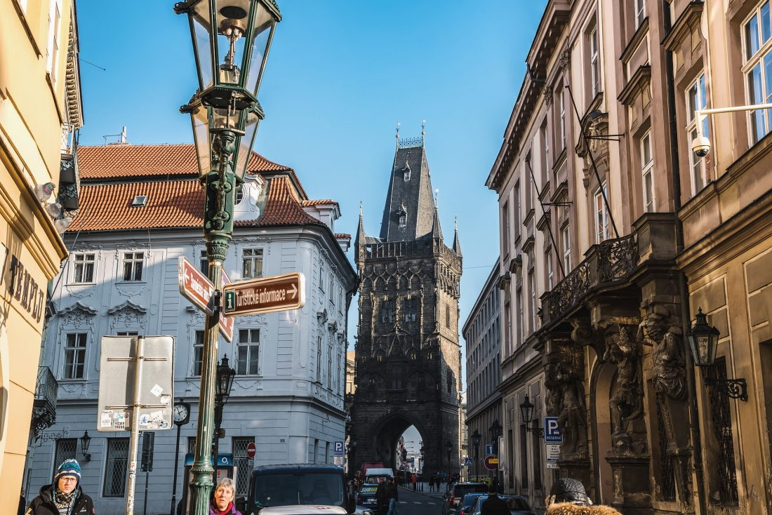 The Powder Tower in Old Town Prague