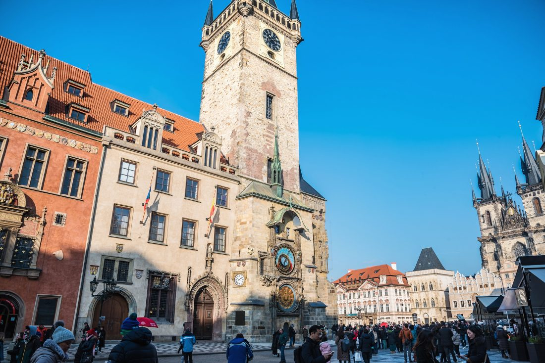 Old Town Square and Astronomical Clock Old Town Hall Tower, Prague