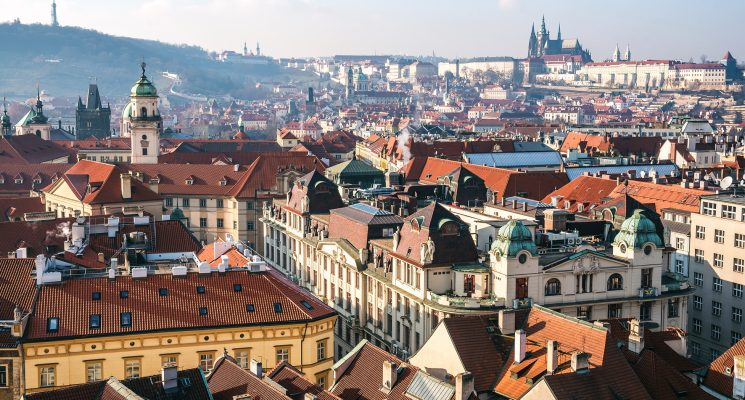 A guide to Old town Prague - Old Town rooftops and Prague Castle