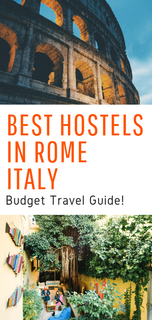Best Hostels in Rome Italy - Visiting Rome on a budget? Budget hotels in Rome can be anything but desirable. A better option is one of these amazing budget hostels in Rome Italy! Click here to save and find a wonderful hostel in Rome! #rome #italy #budgettravel #hostels #europeantravel #europe #travel #europetravel