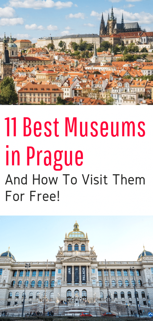 Best Museums in Prague - Looking for the top Prague museums? Then read this guide written by locals to add to your list of things to do in Prague and discover the best museums in Prague Czech Republic! Bonus: Budget travelers - find out how to visit them for FREE! #prague #museums #czechrepublic #travel #europeantravel #europe #budgettravel