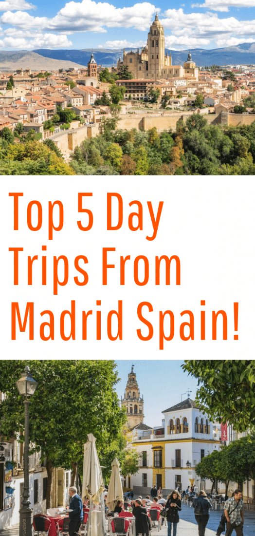 Top 5 Day Trips from Madrid Spain - Visiting Spain and looking for the top day trips from Madrid? Click here to check out all the amazing locations you can reach within a few hours in Spain's capital city! #madrid #europe #spain #travel #europeantravel #europetravel
