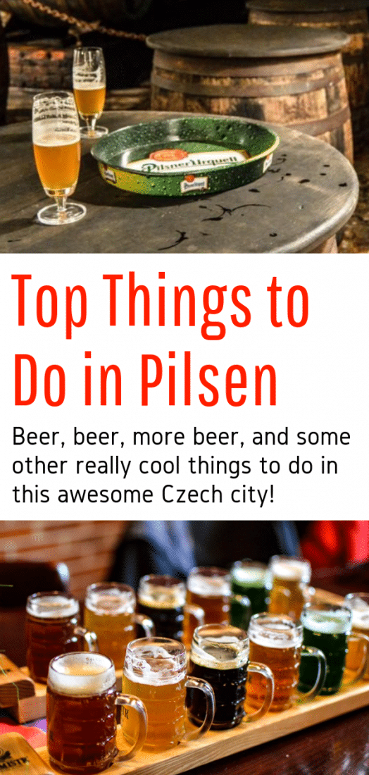 Top Things to Do in Pilsen Czech Republic, the Birthplace of Pilsner Beer! Home to the Pilsner Urquell, this beautiful little city is the perfect day trip from Prague. Click here to learn about all the fantastic things to do in Pilsen Czech Republic - beer tastings and brewery tours included! #pilsner #czechrepublic #beer #brewery #europe #europeantravel #prague