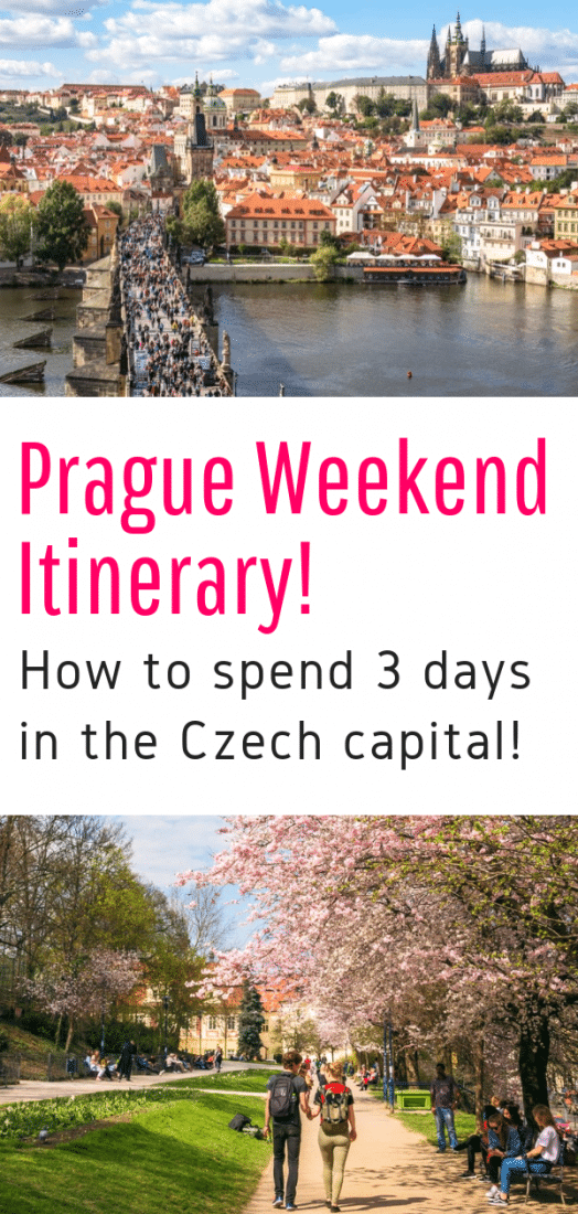 Weekend in Prague - Planning on spending the weekend in Prague? This 3 day Prague itinerary gives you the best things to do in Prague for a short trip. Click here to see the best of Prague Czech Republic! #prague #czechrepublic #europeantravel #travel #europe