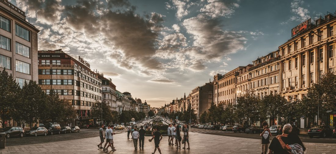 Wenceslas Square in Prague vaclav namesti