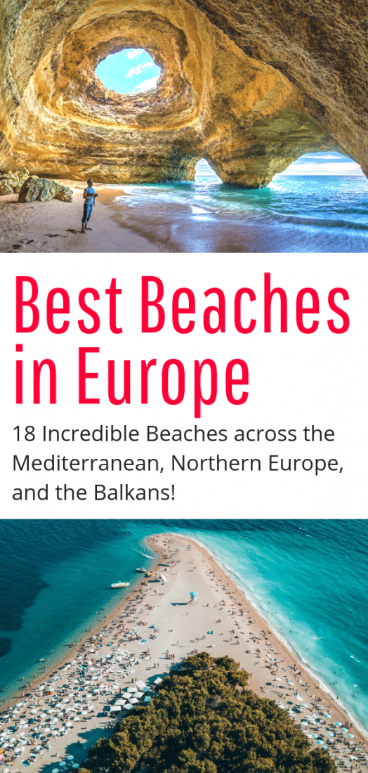 Best Beaches in Europe - 18 of the best beaches in the Mediterranean, Northern Europe, and the Balkans! White sands, pebble beaches, and more. Click to find your perfect beach paradise in Europe! #europe #europeantravel #travel #beaches #spain #balkans #greece #croatia #germany #summer #holiday