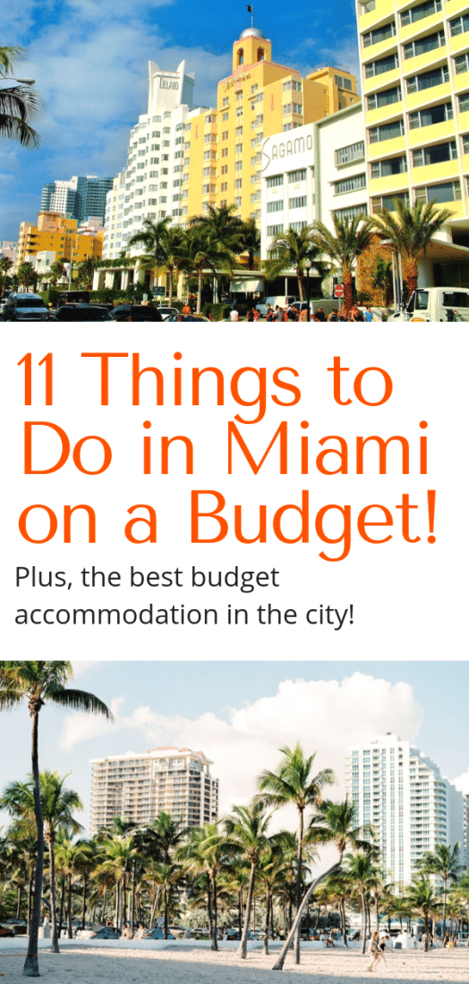 Things to Do in Miami on a Budget! Visiting Miami and looking for some awesome things to do on the cheap? This list of things to do in Miami won't bust your budget, and there is even a hot tip on the best budget accommodation in Miami! Click to learn more. #miami #travel #budgettravel #florida #USA #budget