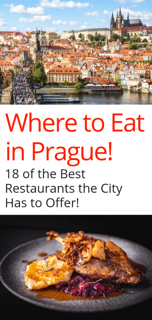 Looking for the best restaurants in Prague Czech Republic? Here are the top 18 restaurants in Prague, including restaurants in old town, the best Prague restaurant with a view, and plenty of off the beaten path restaurants. Sample traditional Czech food in Prague plus the best international cuisine the city has to offer! #prague #czechrepublic #czech #travel #europe #europeantravel #restaurants
