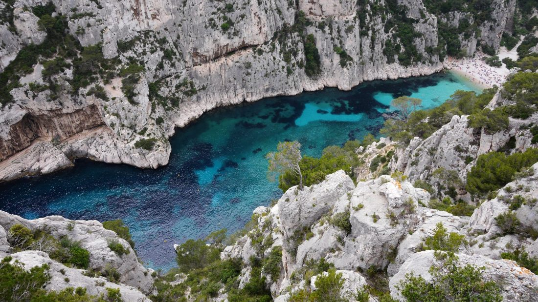 best beaches in France in Calanques