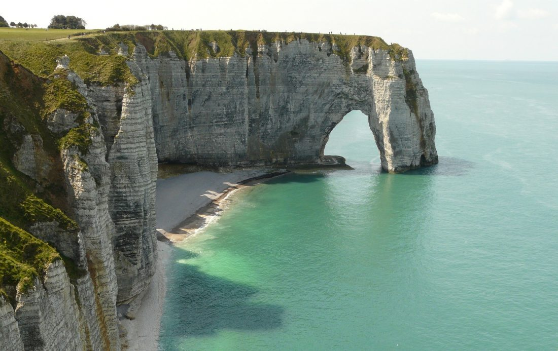 Etretat beach in Normandy France