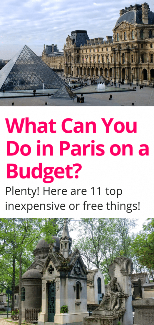 Visiting Paris on a budget? Here are the top 11 things to do in Paris France that are free or inexpensive! Visit the most popular sites without spending a penny. Feed your face for a few Euros, and get around Paris on a dime. #paris #france #budgettravel #europe #europeantravel #travel #europetravel