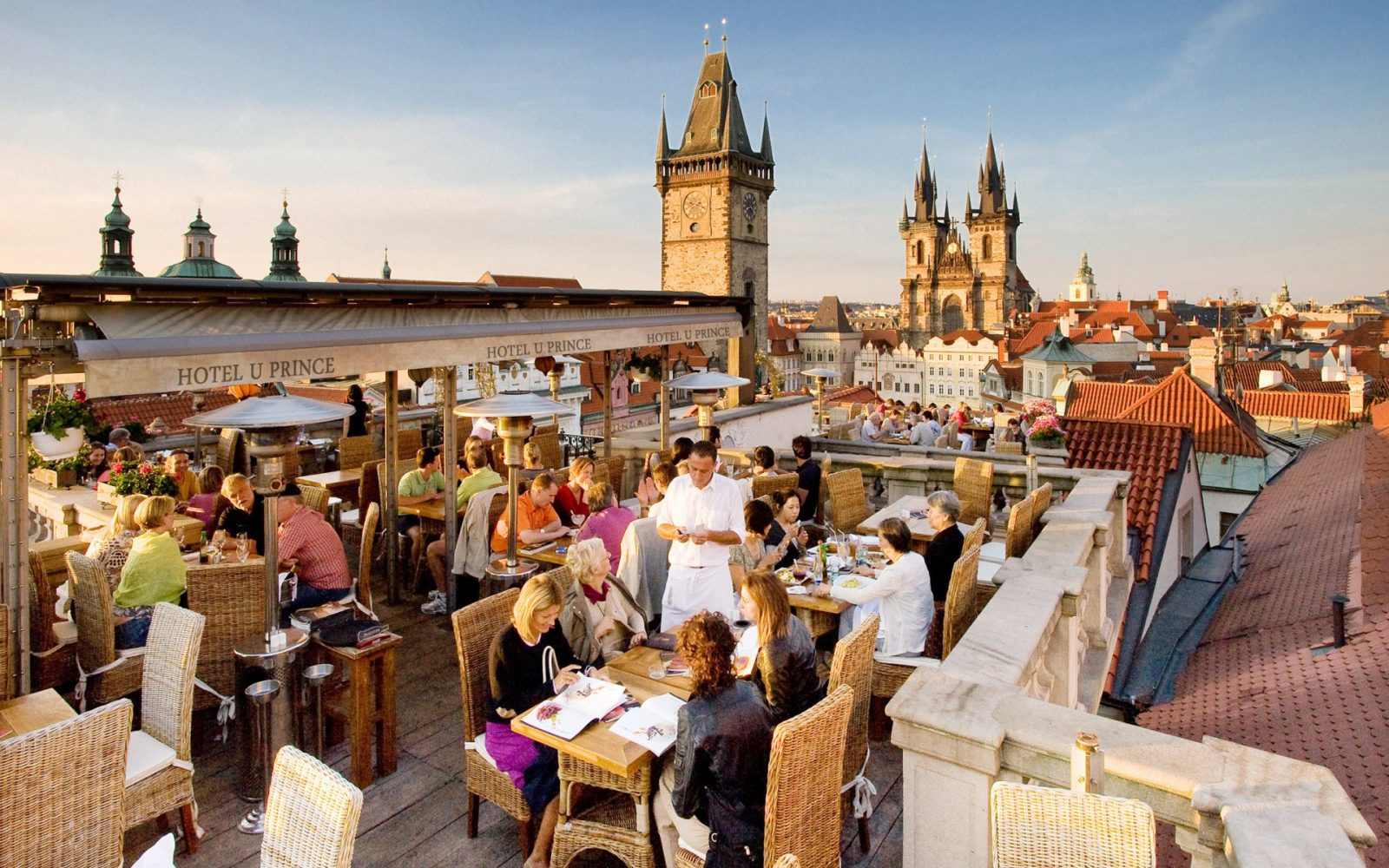 View from Terasa U Prince Restaurant in Prague