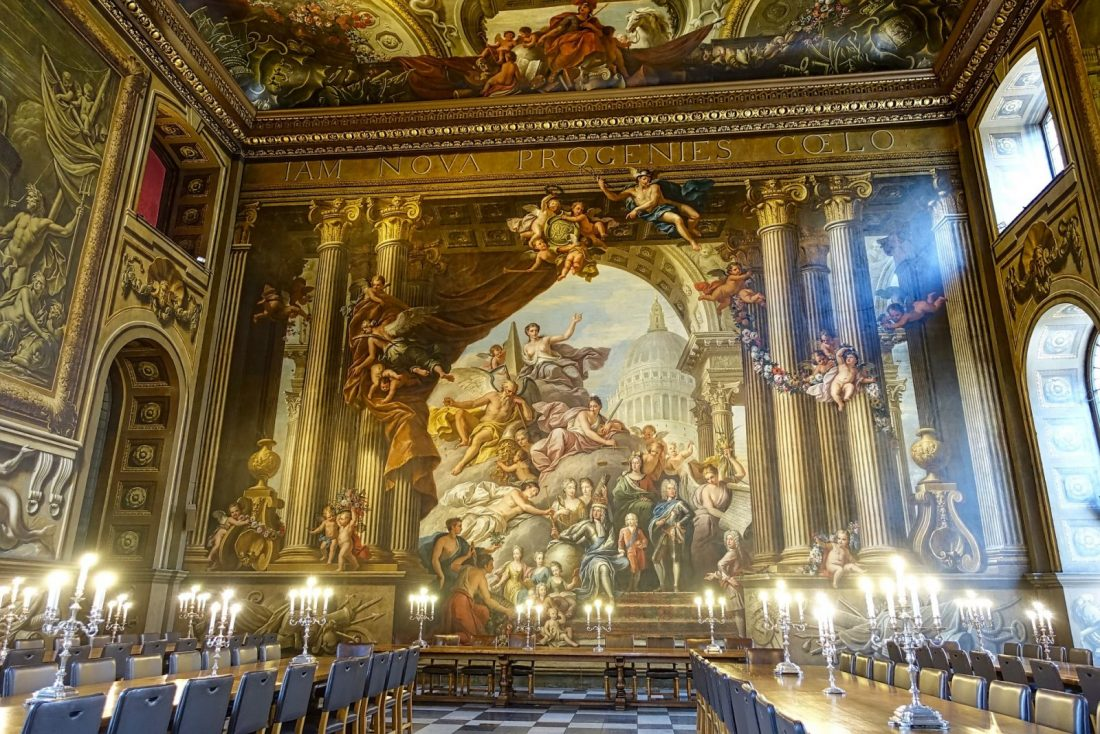 Day Trips from London to greenwich painted hall uk