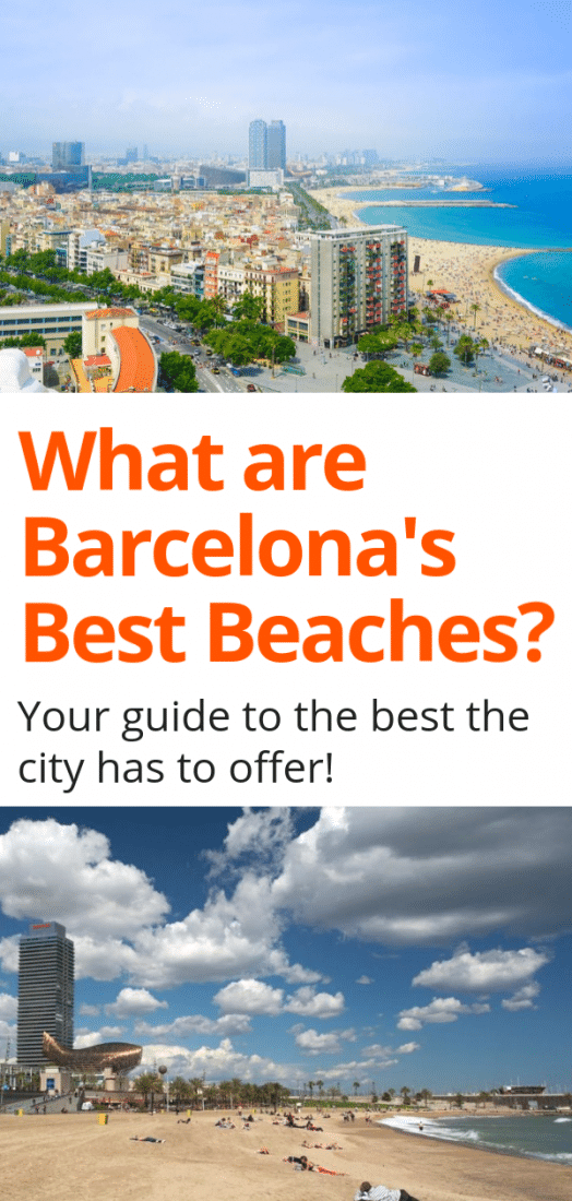 One of the best things about Barcelona is that it's located on the sea and visitors have access to some pretty awesome beaches. If you want to soak in some Spanish sun here is your guide to the best beaches in Barcelona Spain! #beaches #spain #barcelona #travel #europe #europeantravel