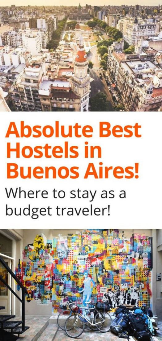 Trying to figure out where to stay in Buenos Aires? We've summed up the best hostels in Buenos Aires for budget travelers! Click here to find the perfect accommodation on a budget in Buenos Aires Argentina today! #buenosaires #argentina #hostels #budgettravel