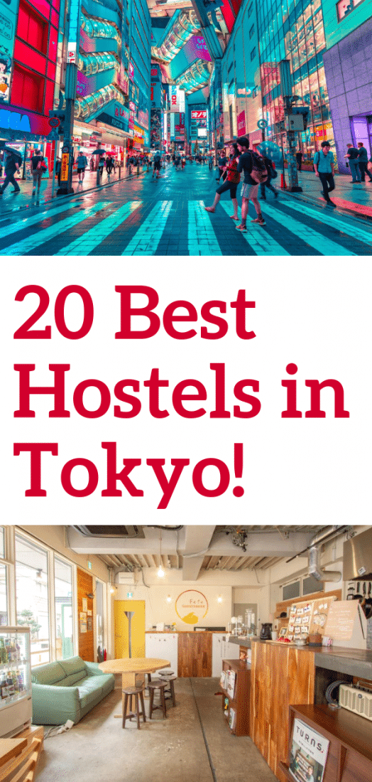 Tokyo is notoriously expensive, so staying in a hostel is a great way to save a few bucks while traveling. Luckily the city is full of super cool and unusual hostels. Here are 20 of the absolute best hostels in Tokyo Japan! #tokyo #japan #hostels #budgettravel #travel #asia