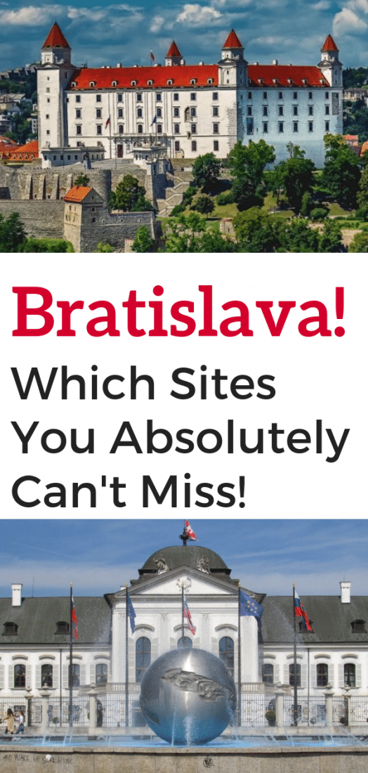 The absolute best things to do in Bratislava Slovakia! Bratislava is one of Europe's smallest and newest capitals and totally worth spending a few days exploring. Here are the top sites to see in Bratislava! #bratislava #slovakia #europe #europeantravel #travel