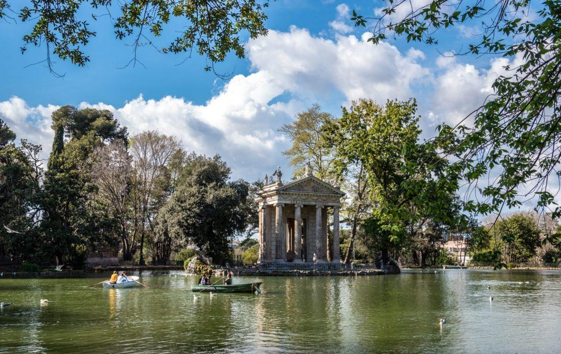 borghese gardens rome italy