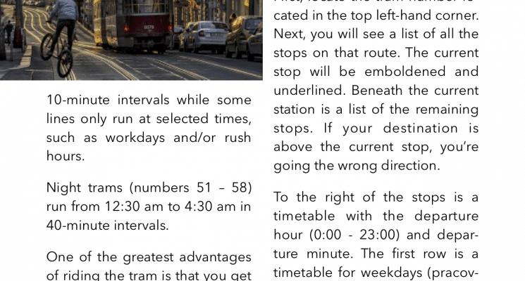 look inside prague ebook tram timetables