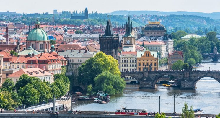 is prague expensive? view vltava river prague letna