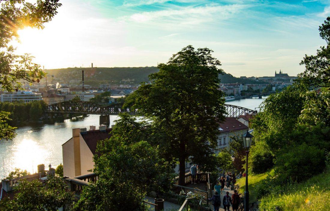 views of Prague from Vysehrad