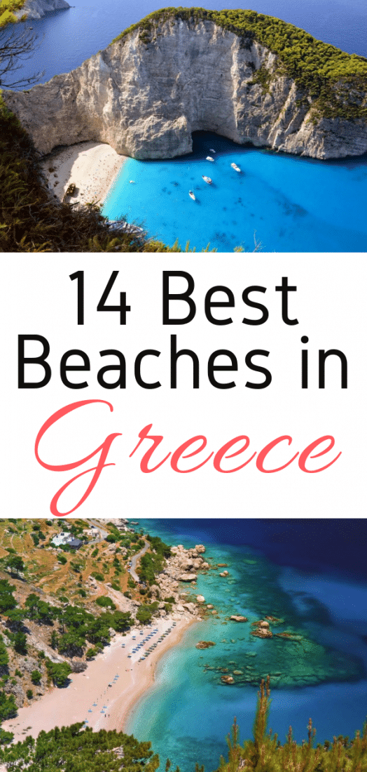 Planning a Greek Holiday? Here are the 14 best beaches in Greece for your Greek Island Hopping adventure! #greece #beaches #europe #Crete  #Karpathos #Kefalonia #Lefkada #Messinia #Milos #Mykonos #Naxos #Rhodes #Santorini #Skiathos #Zakynthos #travel #europeantravel #europeanvacation #holiday #summer #bestbeaches