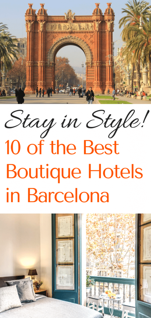 Visiting Spain soon? Looking for the best hotels in Barcelona? Stay in style at one of these stunning boutique hotels! #hotels #barcelona #spain #europe #europeantravel #travel