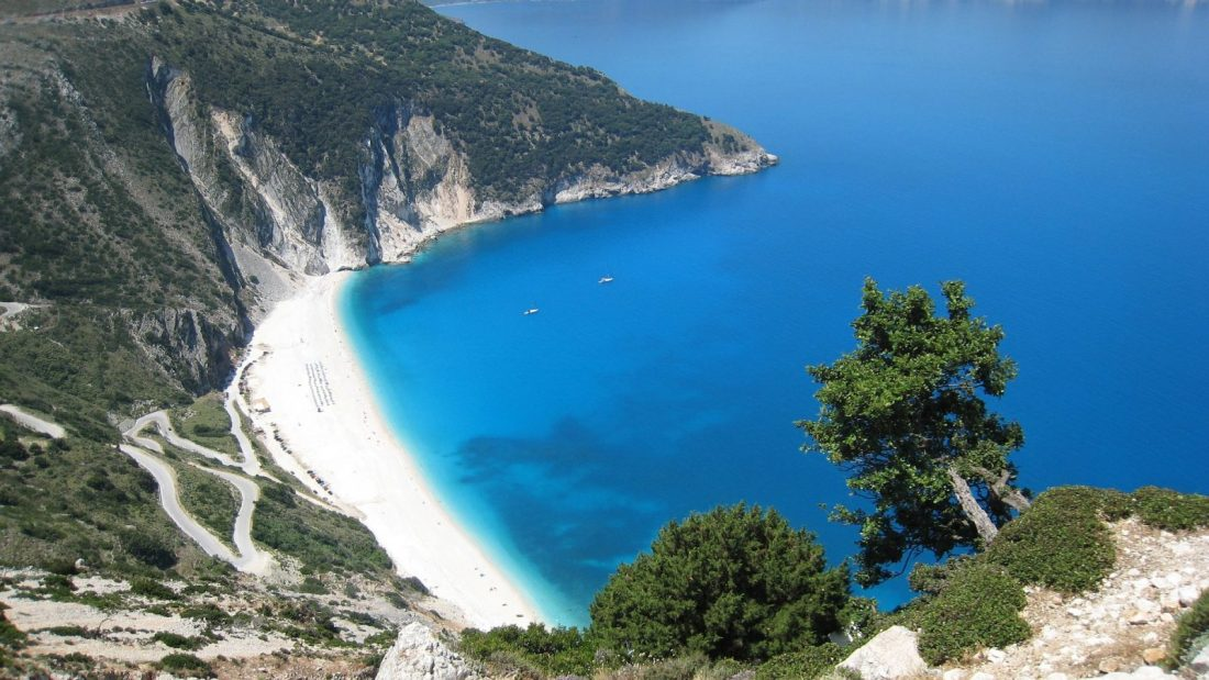 myrtos beach - best beaches in greece
