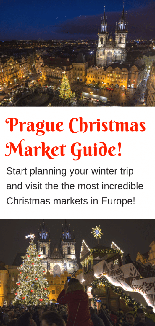 Prague Christmas Markets Guide - What to expect from Prague Christmas Markets, things to do, what to avoid and more. From visiting the most well known Prague Old Town Square Christmas Market to getting off the beaten path with Prague's local Christmas Markets this guide will help you get the most out Europe's most beautiful Christmas markets! #christmasmarkets #prague #czechrepublic #christmas #europe #europeantravel #travel