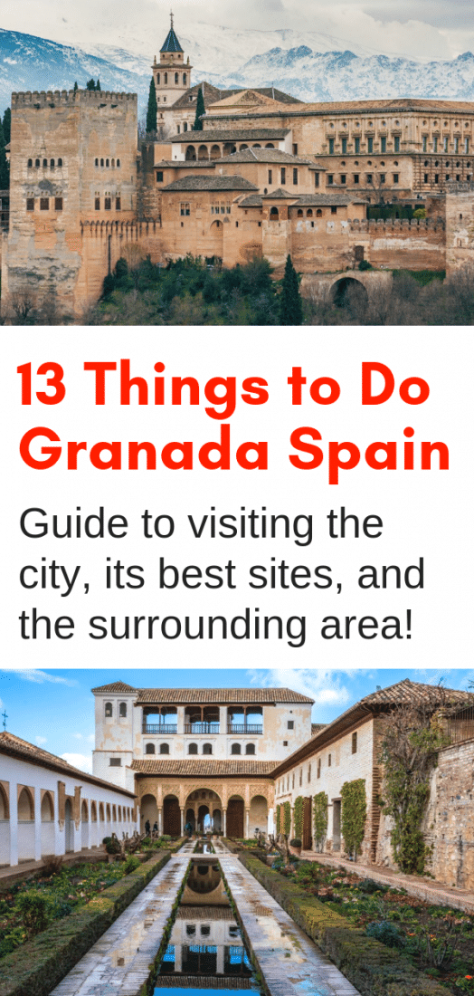 From the obvious to the not as well known, here are the best things to do in Granada Spain, plus some awesome ideas for day trips in the surrounding area! Spanish Tapas, Alhambra, historic neighborhoods, nearby hiking, and much much more in this guide to Granada! #granada #alhambra #spain #andalucia #europe #travel #europeantravel