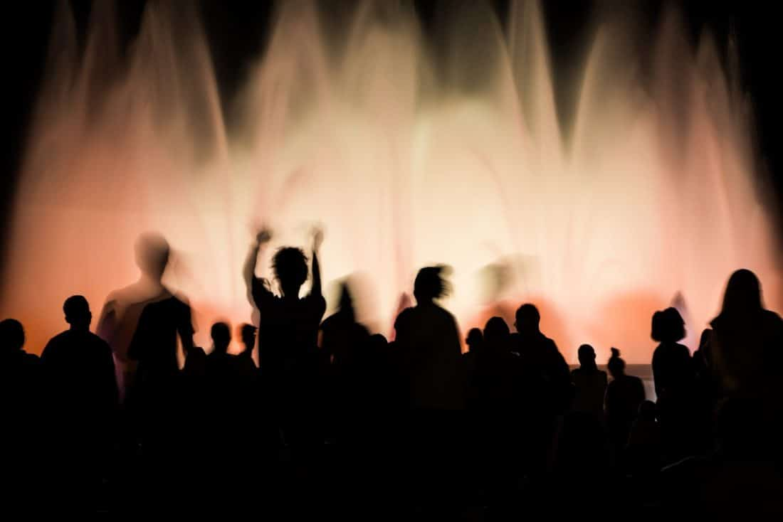 Magic Fountain Barcelona at night