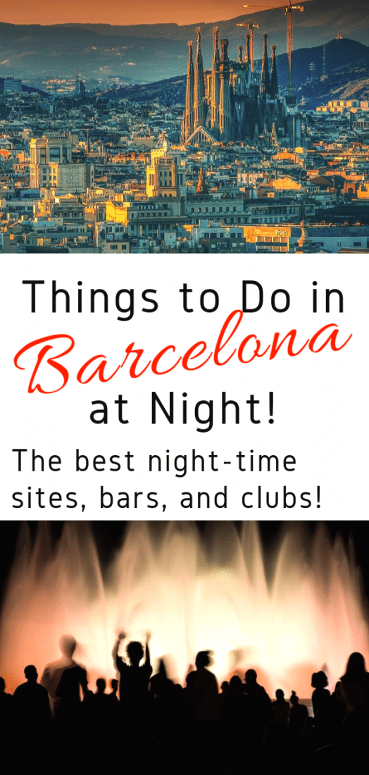 Guide to Barcelona Nightlife! Looking for the best things to do in Barcelona at night? This one's for you! Here are the best bars, clubs, and sites to visit at night! #barcelona #spain #europe #travel #europeantravel
