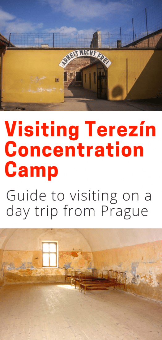 Considering a day trip from Prague to the Terezin Concentration Camp? This guide will get you there, prepare you for what you'll see, and give you some background about the camp. Click for all the info you need to visit the Terezin Czech Republic. #terezin #czechrepublic #prague #europe #europeantravel #travel
