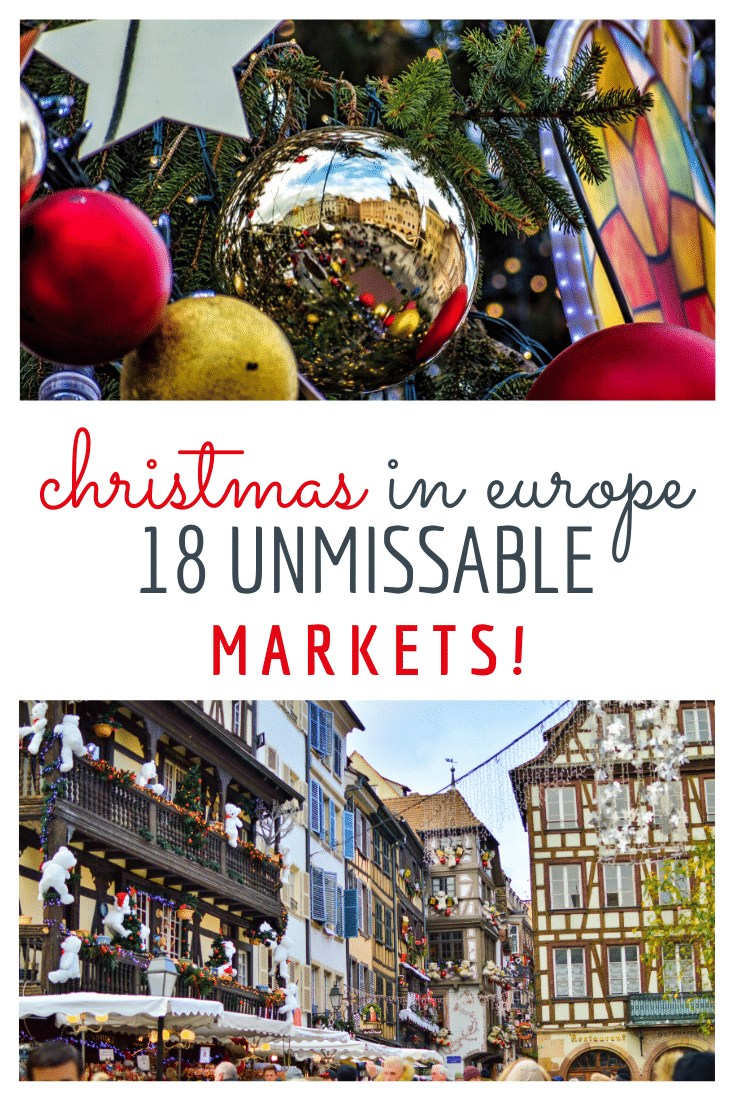 18 of the best Christmas Markets in Europe! If you want to dive right in to the holiday spirit, there is no better place than a European Christmas Market! Here is the only guide you'll need to decide which one to visit this winter!