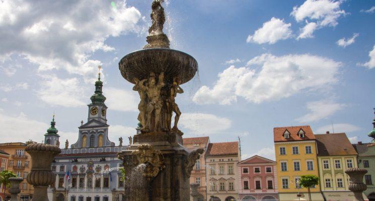 ceske budejovice Premysla Otakara square
