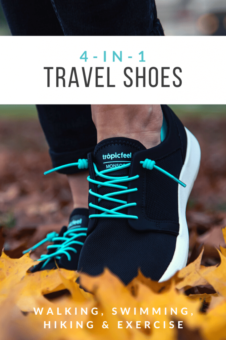 We've stepped foot on four different continents and over fifty different countries. So when we endorse a travel shoe for walking, we know what to look for. These awesome four in one travel shoes are perfect for walking, swimming, hiking, and exercise! Plus, they save loads of space and weight in your luggage! Check out our review!