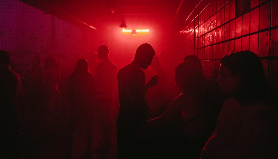 inside a techno club in berlin