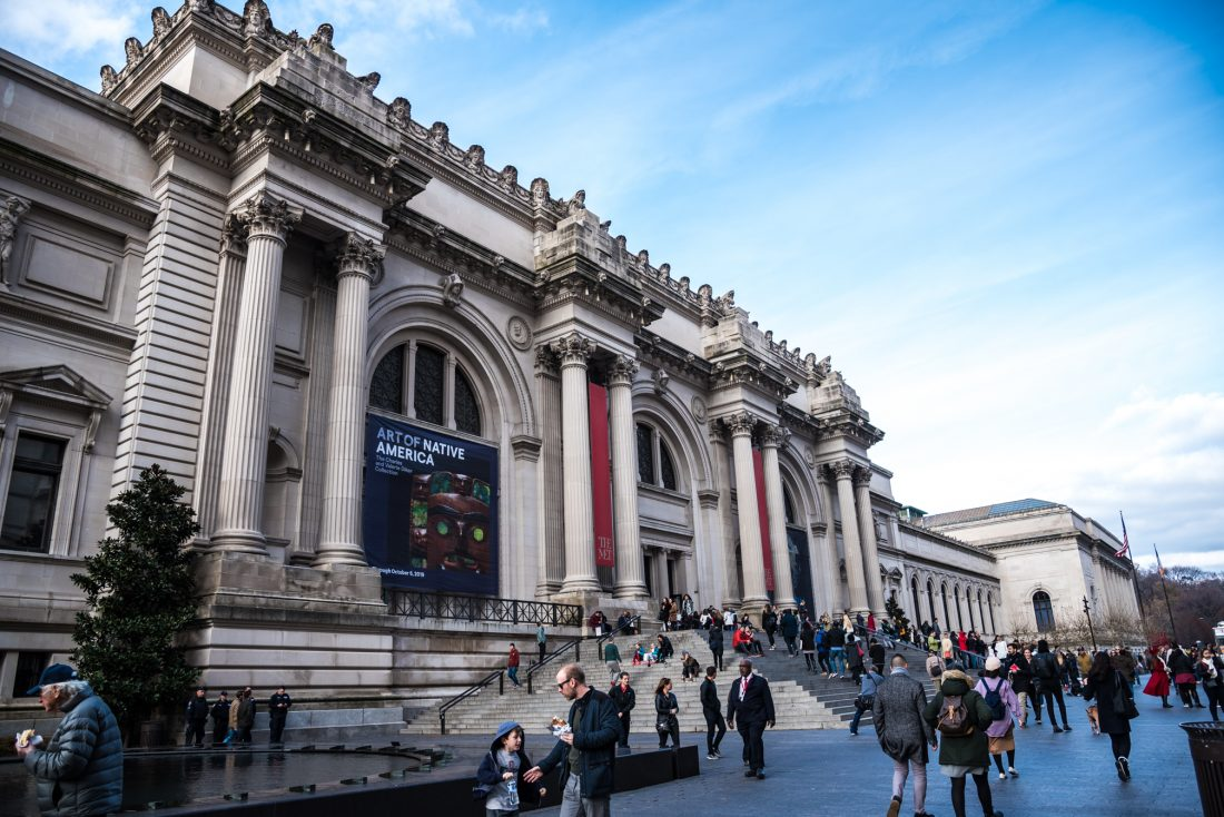 the exterior of the MET - best museums new york city