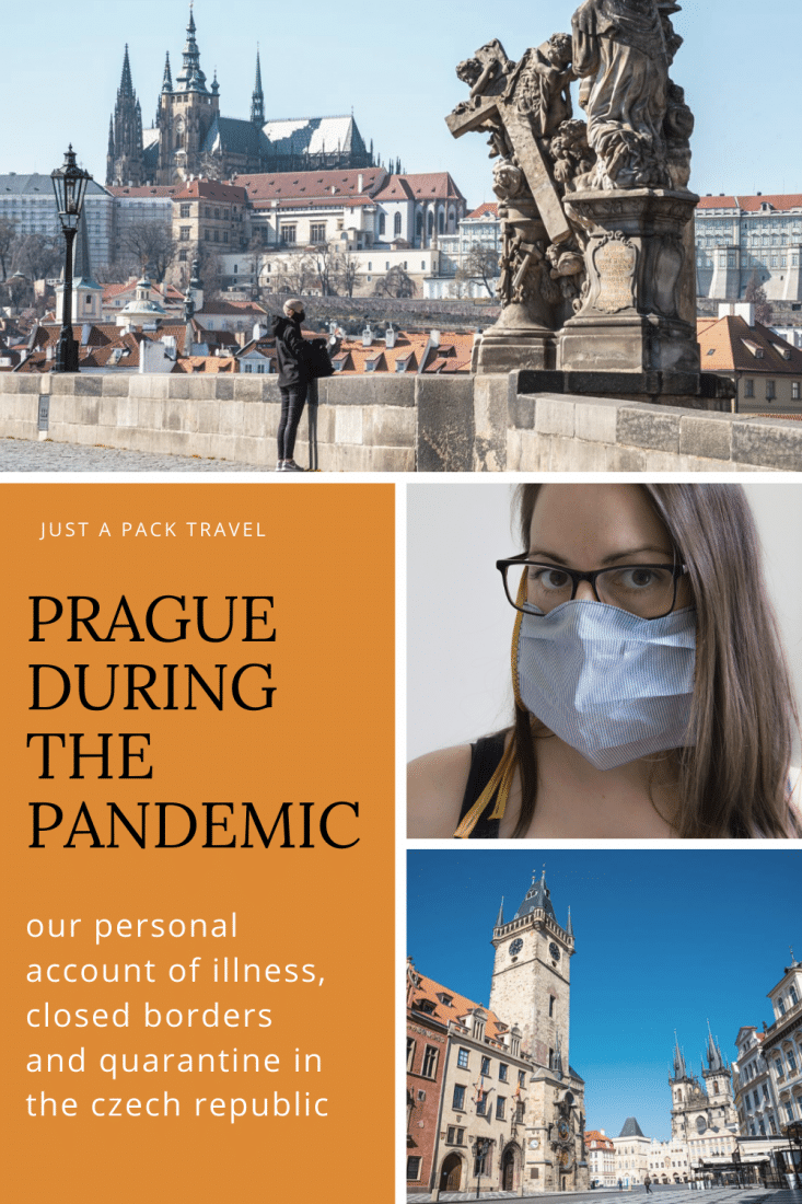 Our firsthand account of what it's been like as expats living in Prague during the pandemic. Illness, closed borders, and quarantine. We share our story.