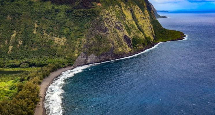 Ariel view of Waipio Valley