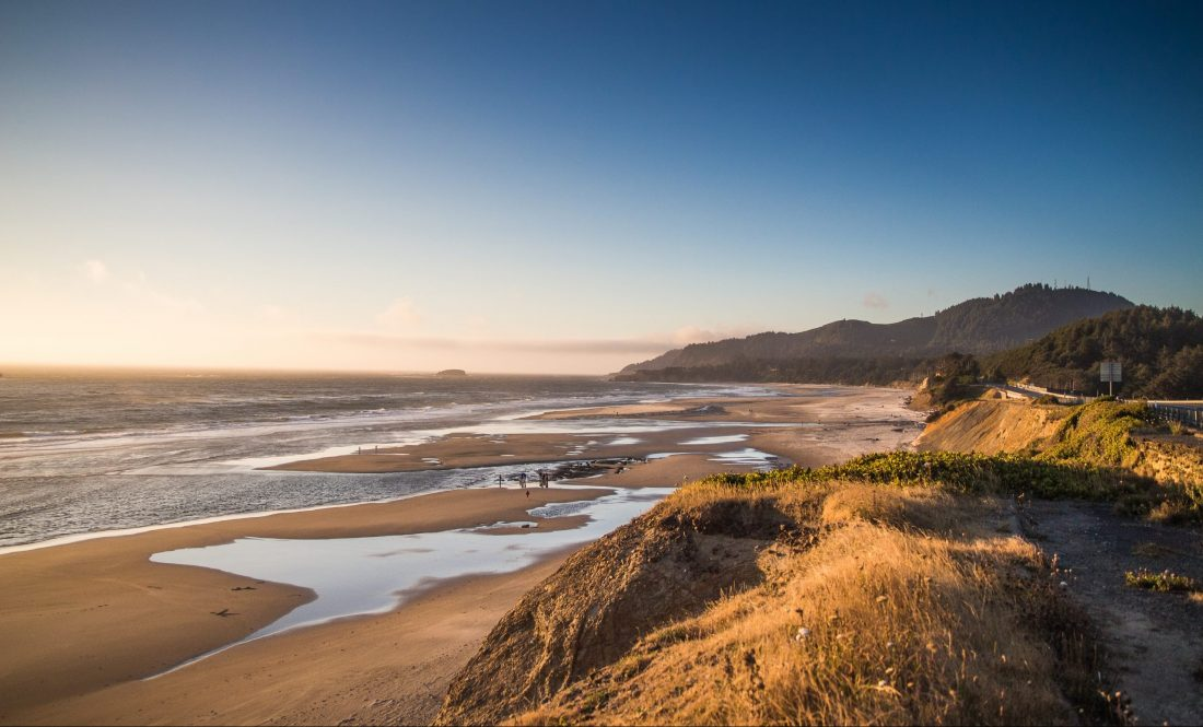 The Oregon Coast during golden hour