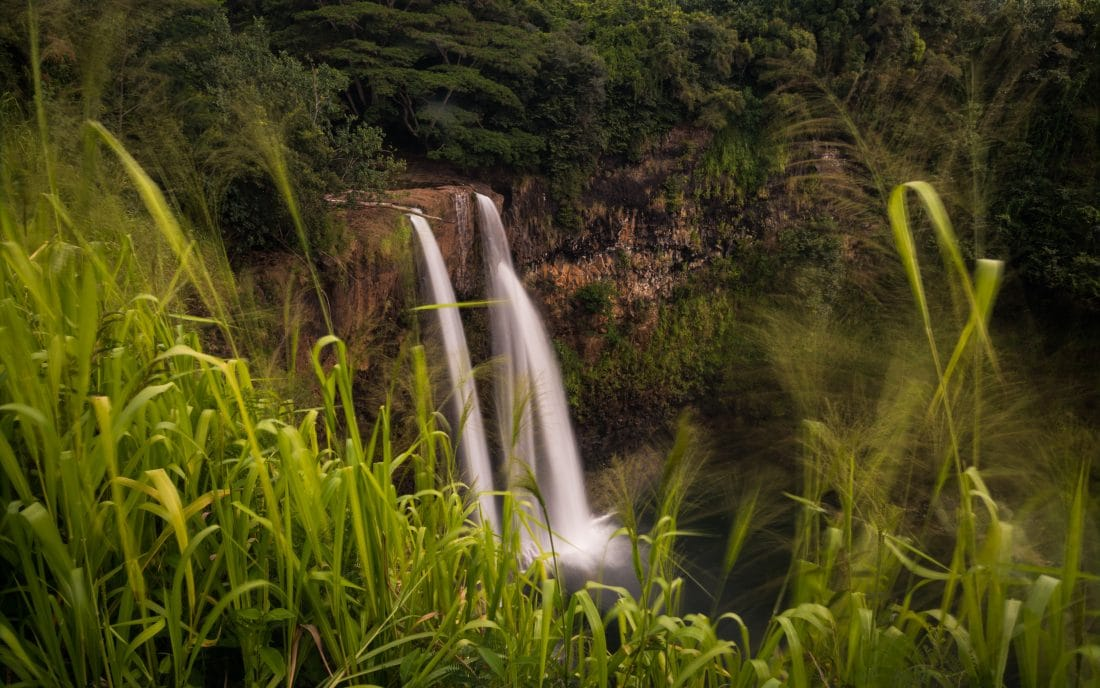 a picture of Wailua Falls, Kauai Hawaii