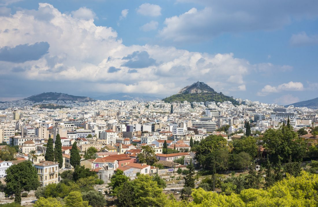athens skyline as seen from the Acropolis
