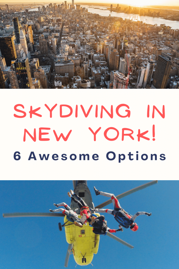 Want to go skydiving in New York? We've been, and it was one of the most incredible experiences of our lives! Here are a bunch of awesome places you can go skydiving near NYC today!