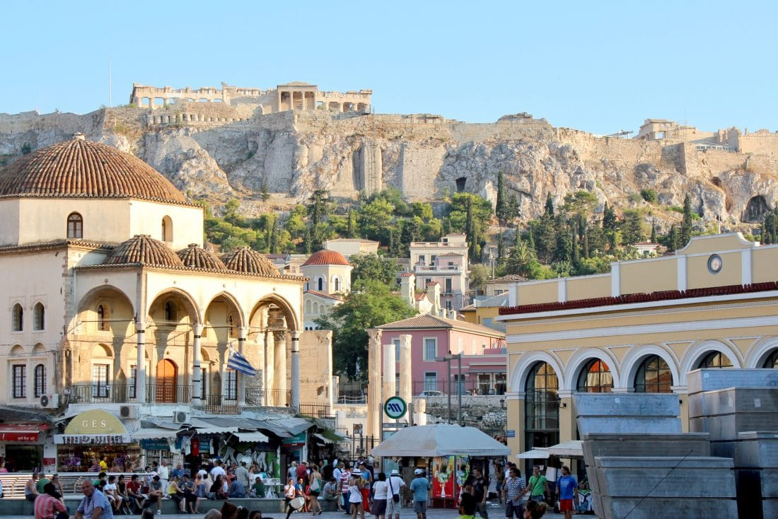 a walking tour in the heart of athens