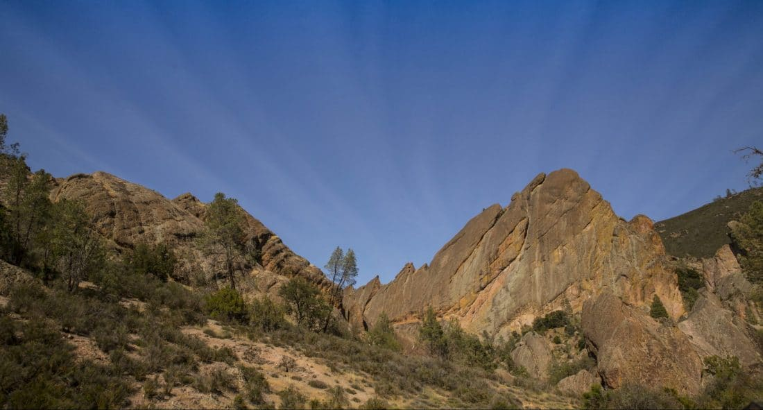 the volcanic formations that give Pinnacles National Park its name