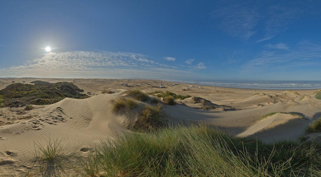 sand dunes on a sunny day near Santa Maria, California