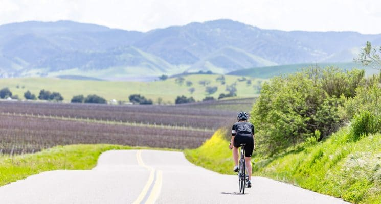 biking down an empty road in Santa Maria is one of the best things to do in this beautiful valley,